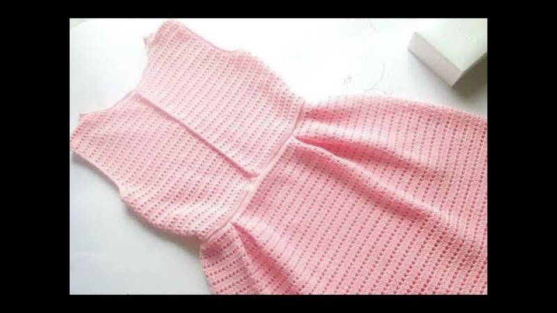 МК вязаное платье крючком Элегия crochet 3 часть Вяжем с Мелкой платье крючком кружево