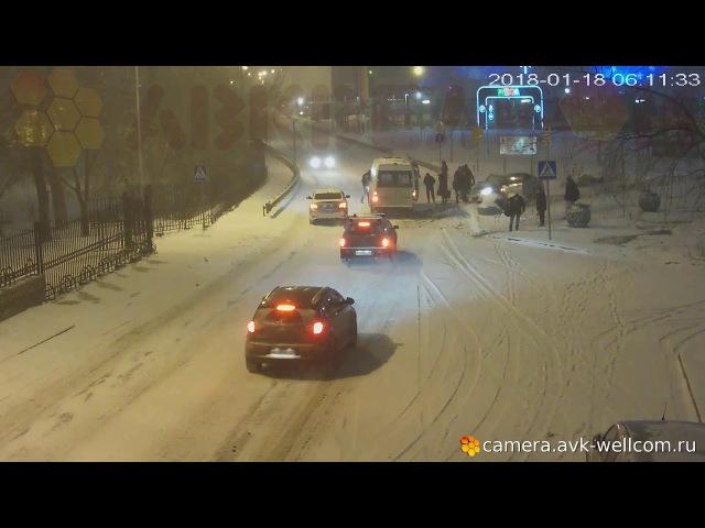 Серьёзная авария в г. Котельники 18.01.2018