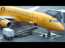 Saratov Airlines Embraer 195 YELLOW BIRD Moscow Domodedovo Saratov AirClips full flight series