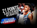 Jimmy Butler Full Highlights 2018 01 08 vs Cavs 21 Pts 9 Asts 8 Rebs in 3 Quarters