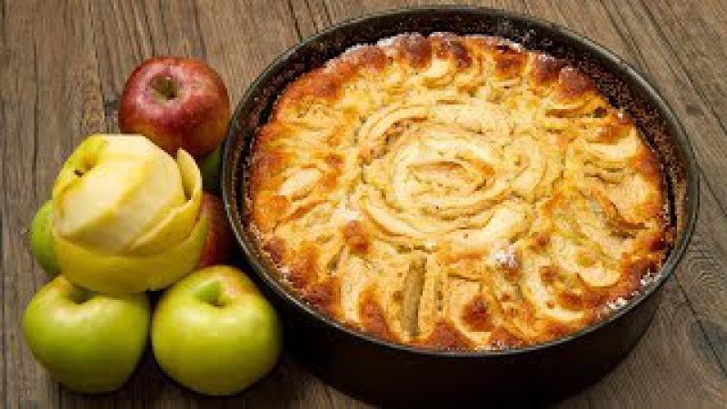 Пышная вкусная шарлотка с яблоками в духовке Классический пошаговый видео рецепт смотреть онлайн без регистрации