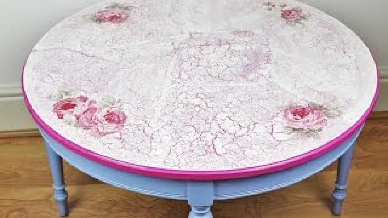Decoupage refurbished table - Fast Easy Tutorial - DIY