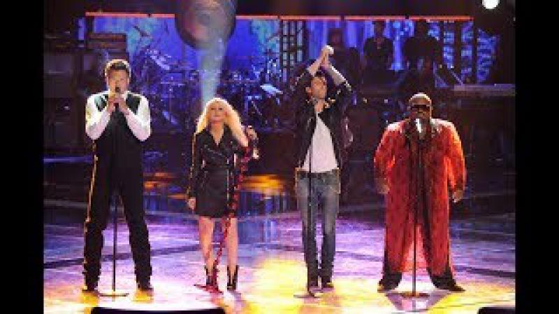 Christina Aguilera, Adam Levine, B. Shelton CeeLo Green - Under Pressure (Live The Voice 2011)