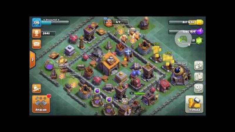 Clan Demonic Forest juntando puntos en los juegos de clanes [Clash of clans]