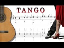 TANGO POPULAIRE with tablature FINGERSTYLE GUITARE