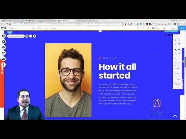 Stand-Up Comedian Template from Wix - Web Design - Tutorial