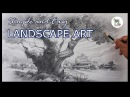 How to draw and shade a easy and simple Landscape for learners with pencil | Step by step