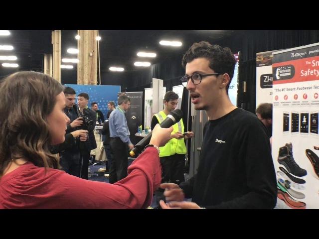 CES 2018 Eureka Park: ZhorTech's Digital Sole is The fist Connected Smart Safety Shoe