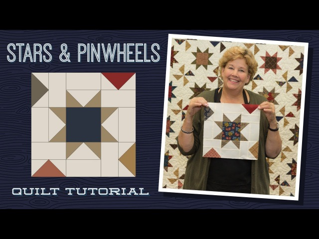 Make a Stars Pinwheels Quilt with Jenny!