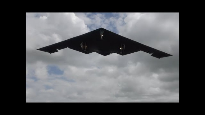 B-2 Spirit Stealth bombers landing on English soil RAF Fairford Fantastic batwing shape aircraft !