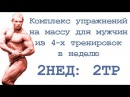 Комплекс упражнений на массу для мужчин из 4 х тренировок в неделю 2нед 2тр