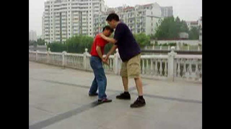 Wu Taiji Push Hands With Qinna ShuaiJiao Shen Tiegen