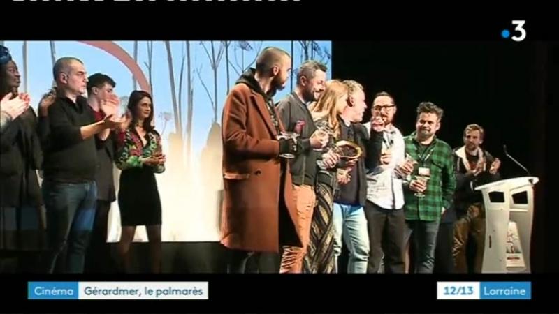 Mylene Farmer - Gérardmer, le palmarès - Trois prix pour Ghostland (12/13 Lorraine, France 3 Grand Est, 5 fevrier 2018)