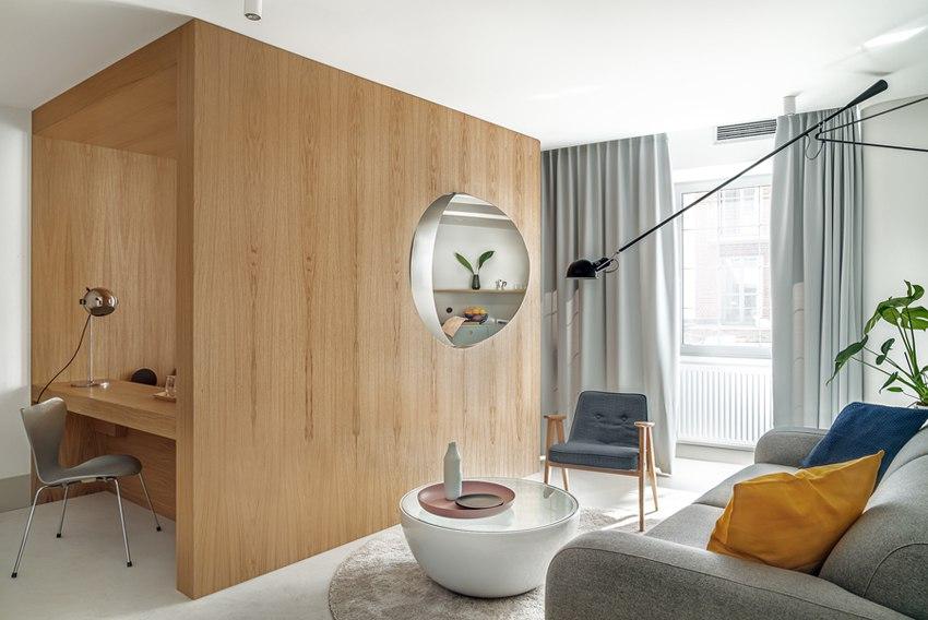 Интерьер квартиры-студии 32 м в Польше.