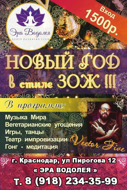 Афиша Краснодар Новый год-2018 ЗОЖ с VECTOR FIVE /Краснодар