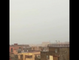 Удар молнии в Неаполе (Италия, 2.02.2018)