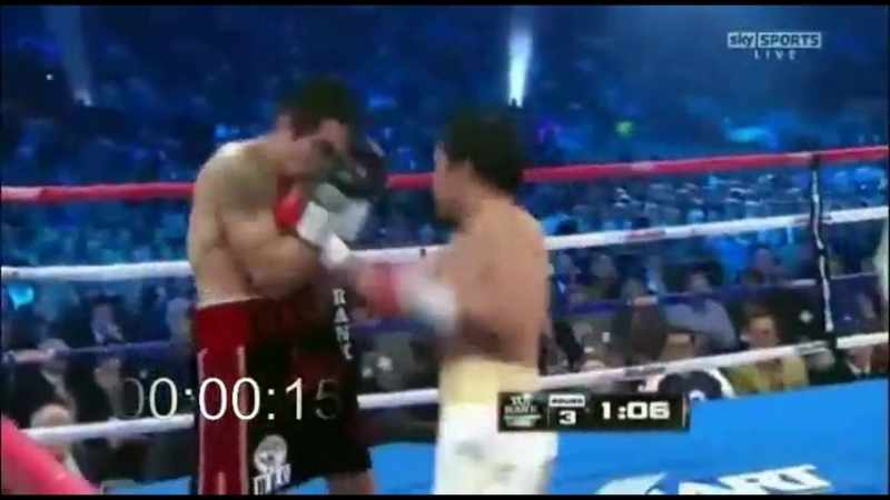 Manny Pacquiao's 7 punch combination in 1 2 seconds ММА 95