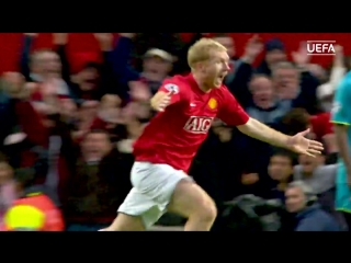 Paul Scholes screamer from every angle! Manchester United v Barcelona