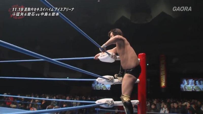 Ganseki Tanaka, Tomoya vs. Koji Iwamoto, Yohei Nakajima (AJPW - Real World Tag League 2017 - Day 1)