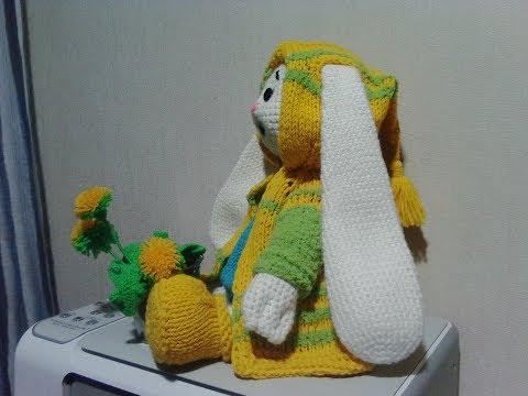 Зайка Няша, кадиган, ч.4. Bunny Nyasha, cardigan, р.4. Amigurumi. Crochet. Амигуруми.