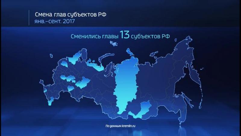 Где поменялись главы регионов в 2017 году?