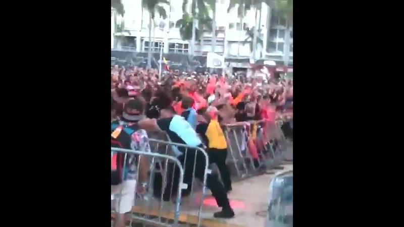 Headbanging at Ultra Miami PLURE