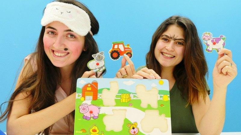 Challenge! Ayşe ve Sevcan ile gözü kapalı puzzle tamamlama!