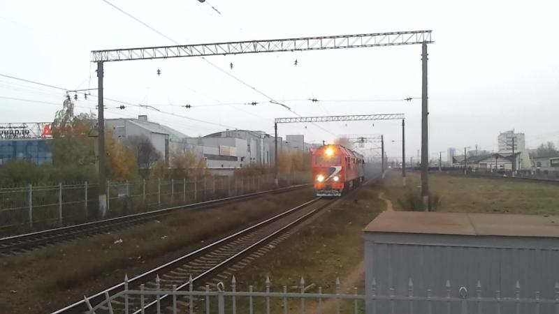 ТЭП70бс - 093 и ТЭП70, Витебское направление.