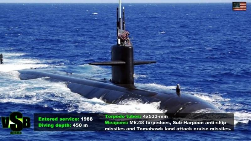 Десятка лучших в мире атомных подводных лодок 2017 -2020.