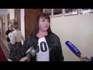 Ольга Картункова, Александр Носик, Эвелина Блёданс на студвесне в Старвополе