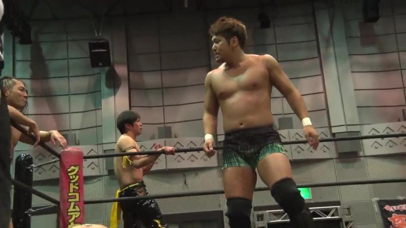 KUDO, Masahiro Takanashi, Kouki Iwasaki vs. Toru Owashi, Kazuki Hirata, Makoto Oishi (DDT - Dramatic Age, Age, Ageo)