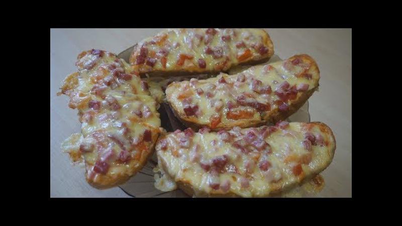 Рецепт мини пиццы Вкусно и быстро горячие бутерброды перезалив