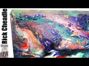 Art Resin Finished Paint Pour with Liquitex Pouring Medium, GOLDEN Fluid Acrylics, B'laster Silicone