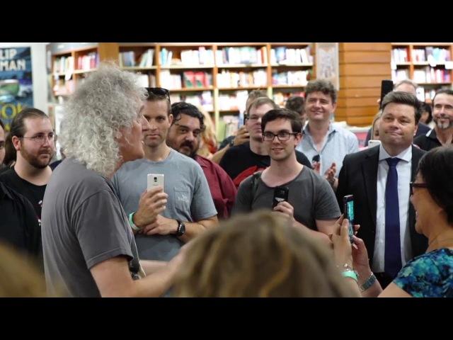 Brian May interview at Kinokuniya bookstore Sydney 22/02/2018 edit