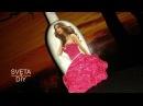 Декор бутылки своими руками Женщина в красном платье Мастер класс от Sveta DIY