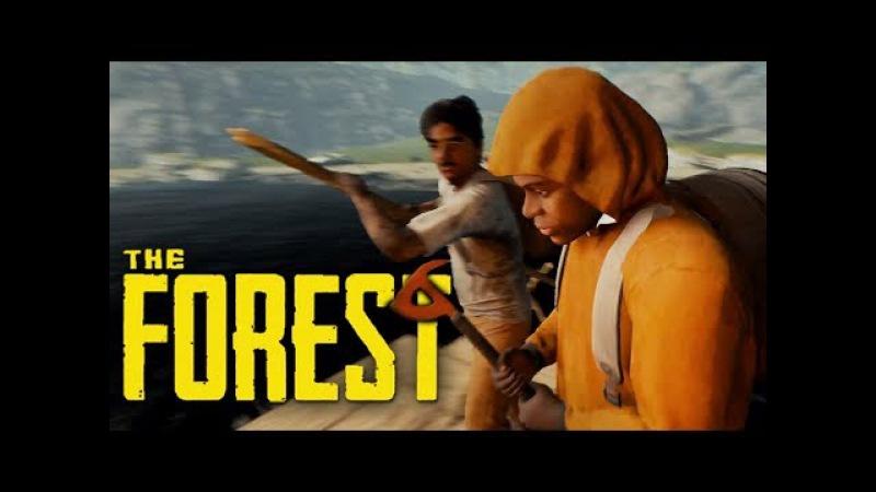 СТРОИМ ПЛОТ НА 4 ВЫЖИВШИХ! (УГАР) - The Forest