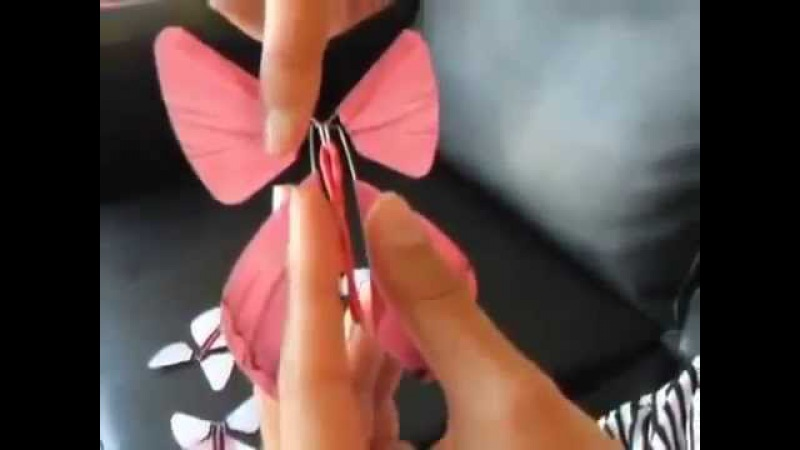 Летающая бабочка - сюрприз (бумажная бабочка вкладыш в открытку,книгу)