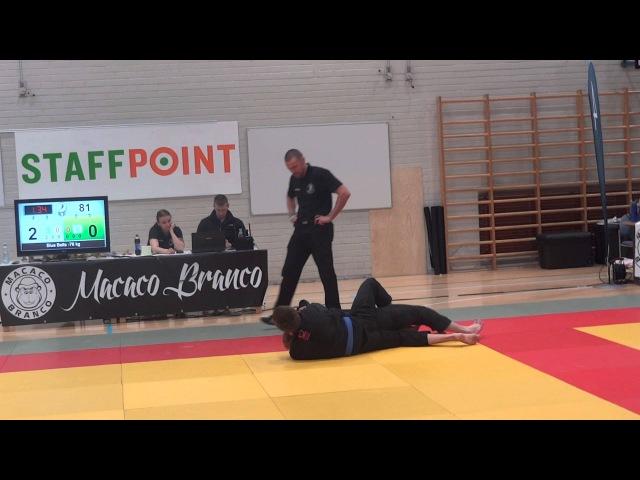 Finnish BJJ OPEN 2015 blue belts 76 kg 1 8 final Карманов Александр Lauri Holopainen