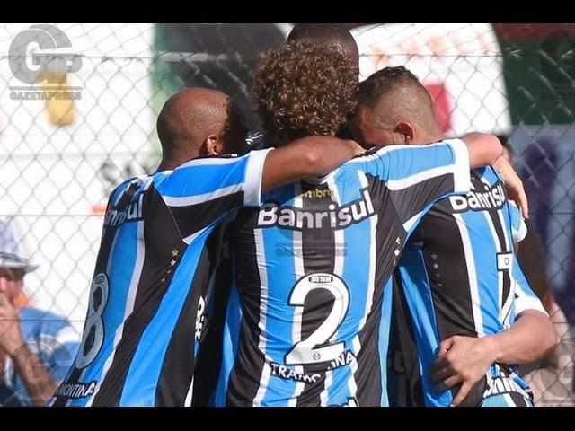 Gols, Avenida 1 x 3 Grêmio - Gaúchão 08/02/2015