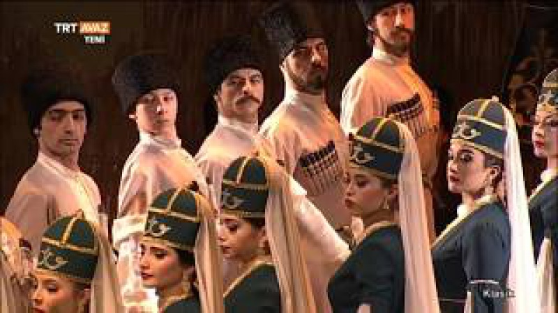 Kafkas Dansları - Elbruz Halk Dansları Topluluğu - Badin Müzik Grubu - TRT Avaz