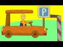 Carros de brinquedo No estacionamento Desenho animado para crianças