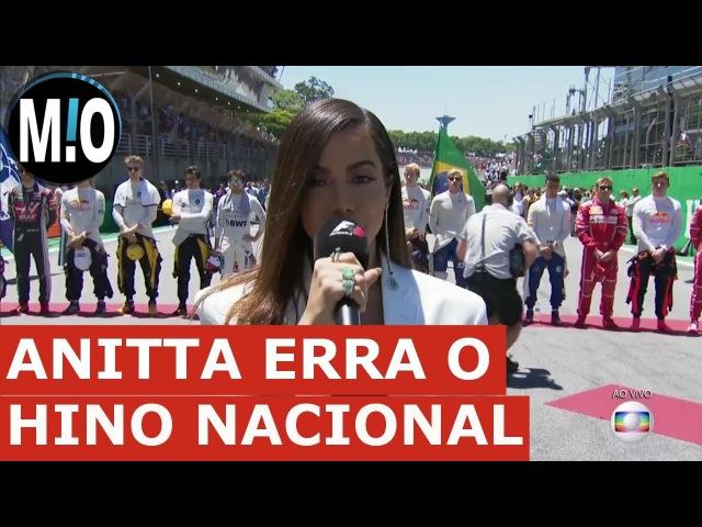 Anitta canta HINO NACIONAL; Anitta é DETONADA cantando hino nacional no GP de Fórmula 1
