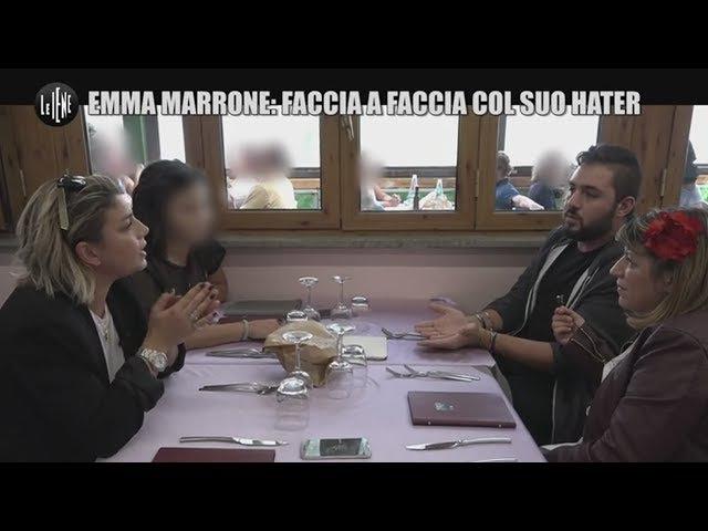 LE IENE FANNO INCONTRARE EMMA MARRONE COL SUO HATER. LE FACCE DI EMMA....DICONO TUTTO