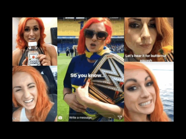 Best of WWE's Becky Lynch 2017 (Funny And Cute Snapchat/Instagram Moments) RAW 25