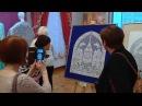 Кружевное панно Спаси и сохрани представили в Музее кружева