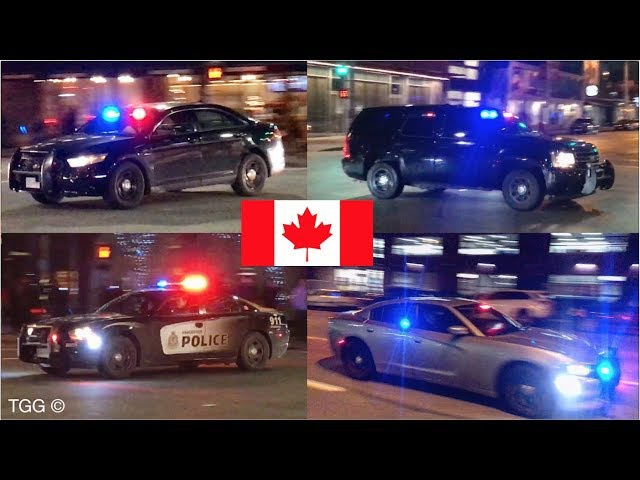 *Rumbler Siren* INTENSE Vancouver Police Responses! (Collection) K-9 Ford Taurus