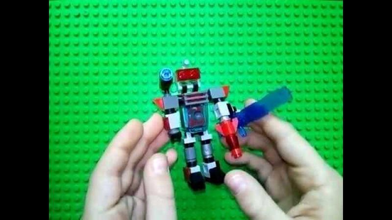 Лего самоделка - робот из деталей лего 2.LEGO