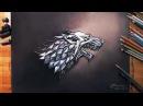 왕좌의 게임 Game of Thrones - Sigil of House Stark Dire wolf drawholic