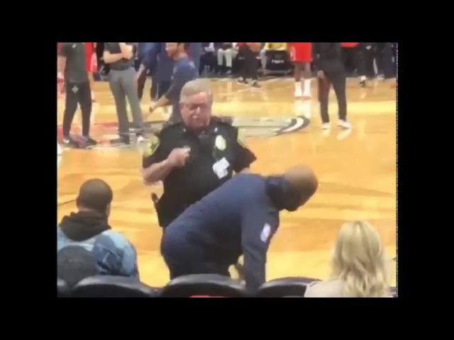 This New Orleans Pelicans fan pretended to be a part of the team stretching until getting caught!!