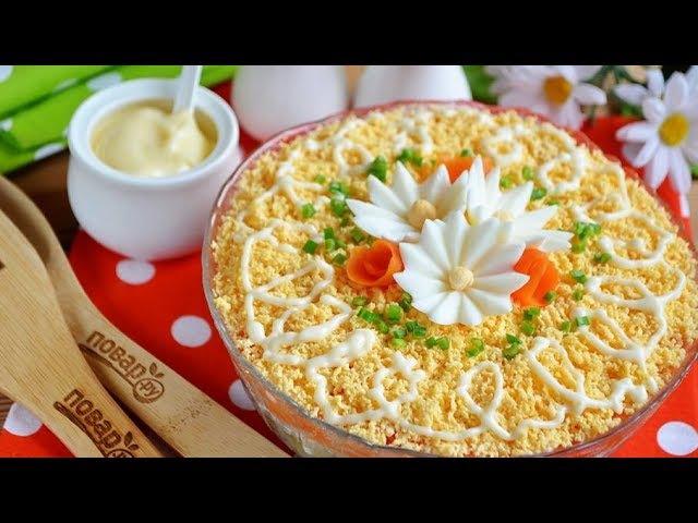 Слоеный салат Пчёлкин сытный и сочный